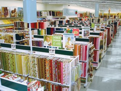 Clothing fabric stores. Clothes stores