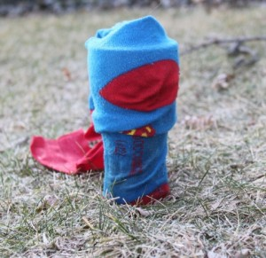 Sock superhero